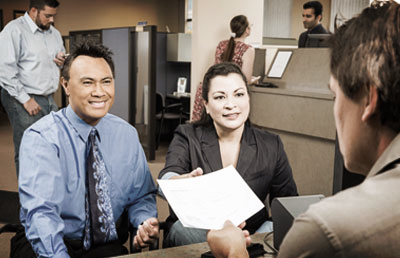 Couple Meeting With Banker