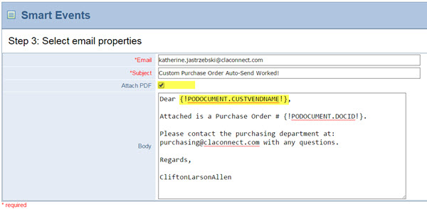 Automating Emailing Purchase Orders To Vendors  Cliftonlarsonallen Llp