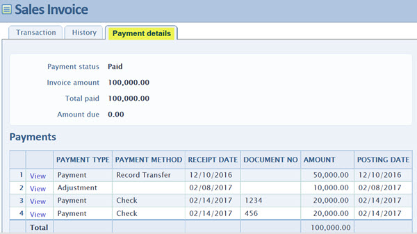 Order Entry Invoices  Printing Payment Details On An Invoice